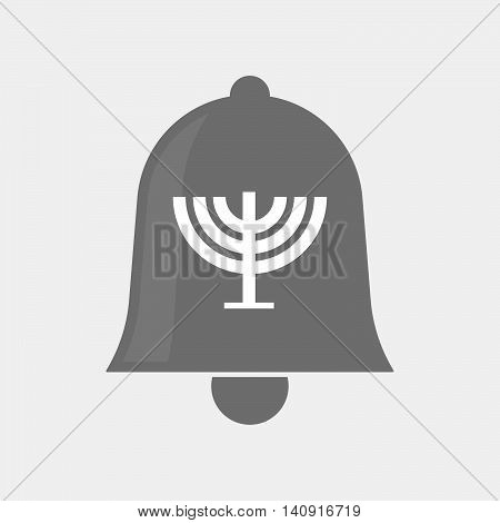 Isolated Bell Icon With A Chandelier