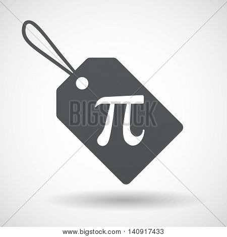 Isolated Label With The Number Pi Symbol