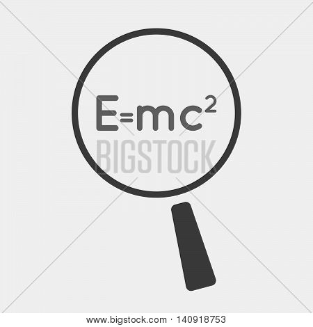 Isolated Magnifier Icon With The Theory Of Relativity Formula