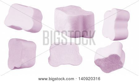 Marshmallows isolated on white background marshmallow, background,