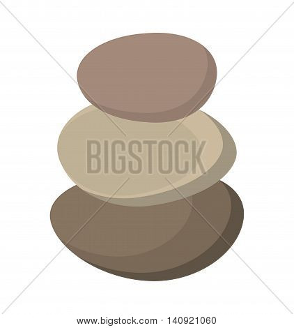 stones rocks spa icon vector illustration design
