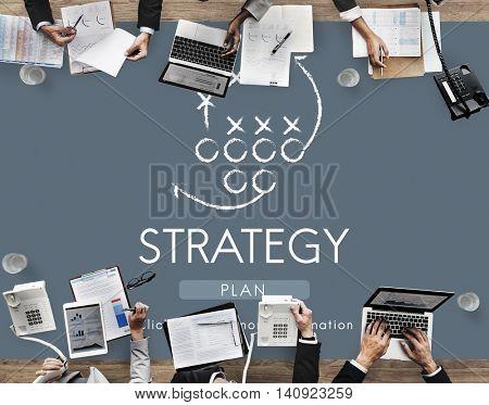 Strategy Analytics Tactics Goals Planning Concept