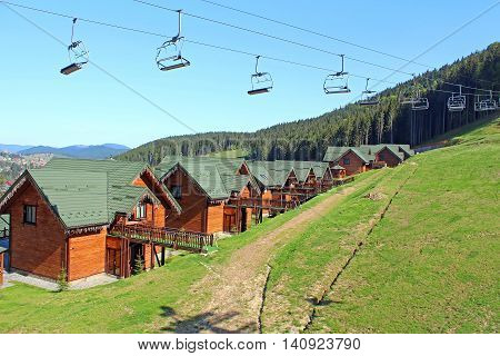 Mountain resort of Bukovel in the Ukrainian Carpathians