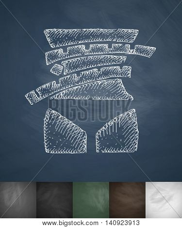 waistline icon. Hand drawn vector illustration. Chalkboard Design
