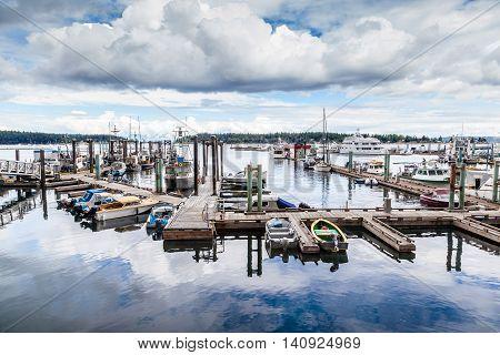 Nanaimo Harbor On Vancouver Island, Bc, Canada