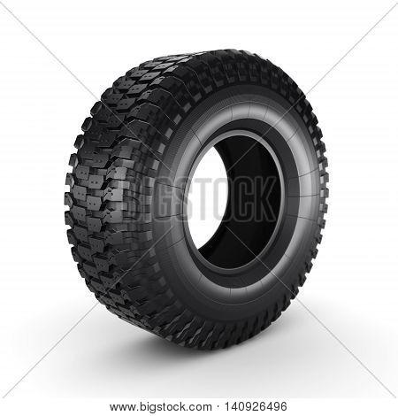 3D Rendering Truck Tire