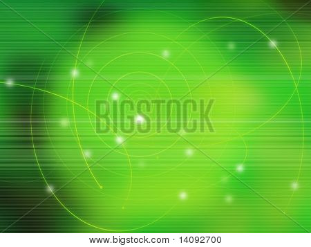 fantasy galaxy light on green background