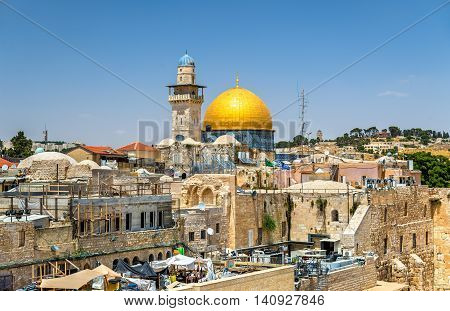 View of the Dome of the Rock in Jerusalem - Israel
