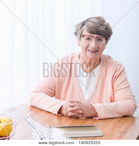 Old Woman With Health Afflictions