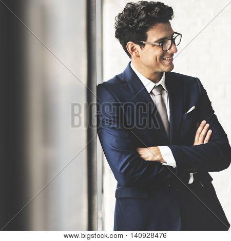 Businessman Office Statistics White Collar Worker Concept