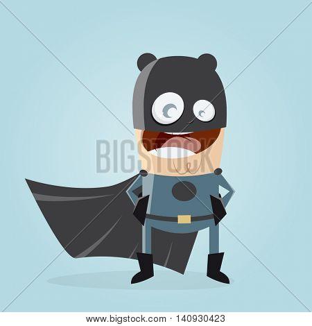 superhero in black costume