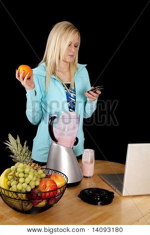 Woman Blender Text Orange