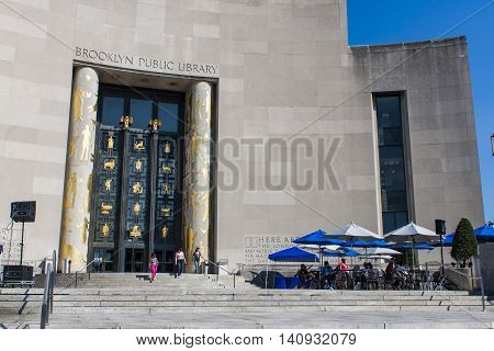 Brooklyn Public Library In New York City