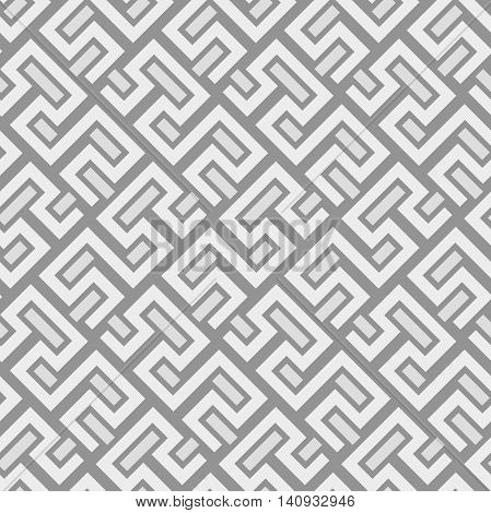 Seamless geometric pattern by gray and white stripes. Modern background with repeating lines
