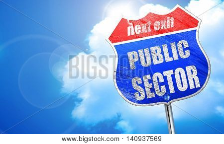 public sector, 3D rendering, blue street sign