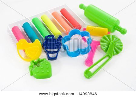 colorful clay for children