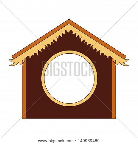 silhouette stable manger icon vector illustration design
