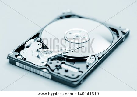 Open HDD drive disc