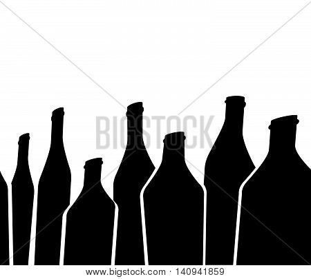 Background Bottle.Alcoholic Bar Menu Vector.Design for Party.Card Cocktail Party.Template for Menu Card.Wine List Design.Bottle of Wine Background.Suitable for Poster.