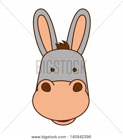 mule character isolated icon vector illustration graphic