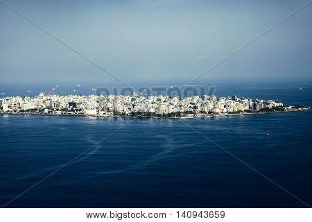 Male Maldivian capital, beautiful view from above