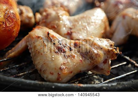 Cooking Of Chicken Wings