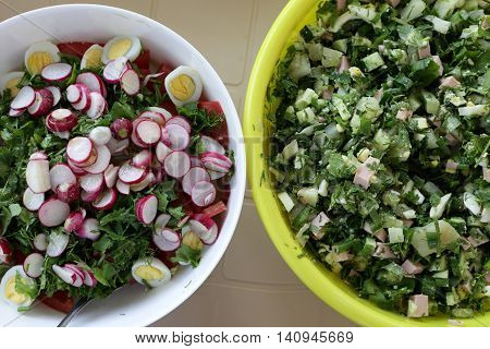 Two Various Salad