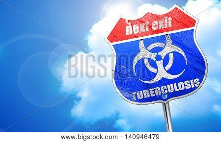 Tuberculosis virus concept background, 3D rendering, blue street