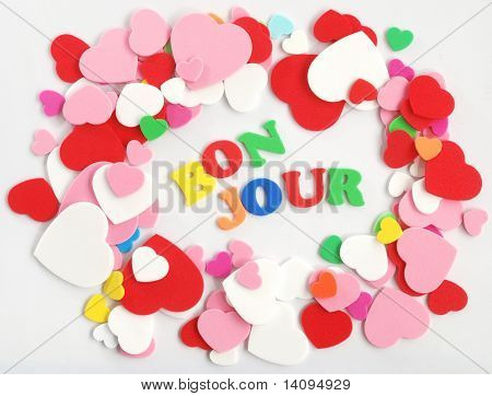 colorful heart frame design element