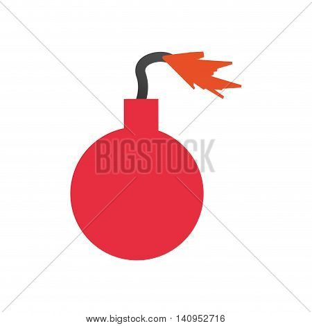 bomb explosion disaster flame fire icon. Isolated and flat illustration. Vector graphic