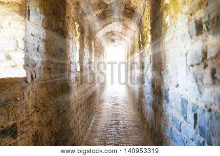 Dark Corridor In Dungeon