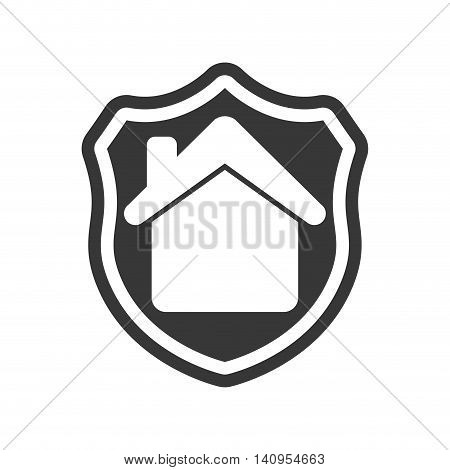 shield house home insurance accident protection icon. Isolated and flat illustration. Vector graphic