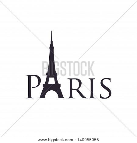 eiffel tower building paris france icon. Isolated and flat illustration. Vector graphic