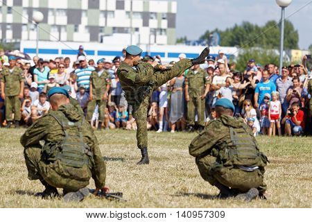 Demonstrations Of Soldiers During The Celebration Of The Airborne Forces