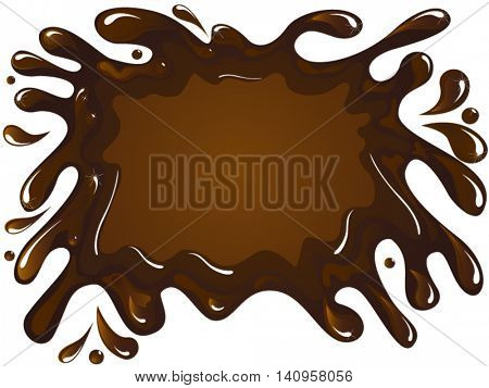Spilled chocolate