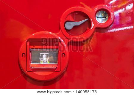 vending Machine coin and banknote insert space