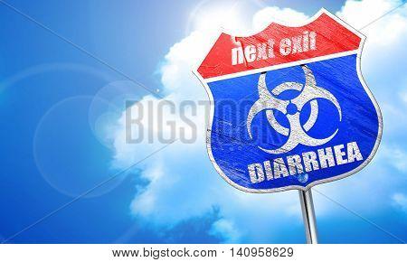 Diarrhea concept background, 3D rendering, blue street sign