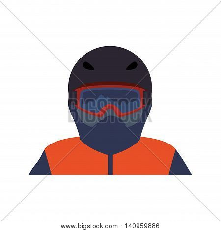 jacket cap glasses cloth fashion winter cold icon. Isolated and flat illustration. Vector graphic