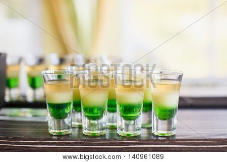 Alcoholic Drinks And Beverages On Wedding Reception
