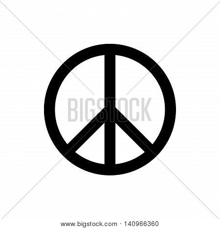 peace symbol or sign. peace icon. isolated on white background. vector illustration