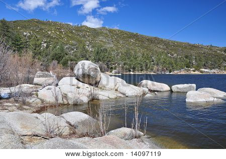 Shoreline of Hemet Lake