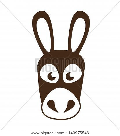coffee mule animal icon vector illustration design