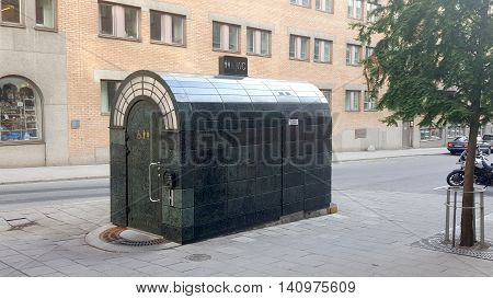 Paid Public toilet in Stockholm, Sweden, Scandinavia
