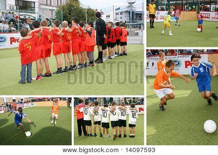 Children's Soccer Collage