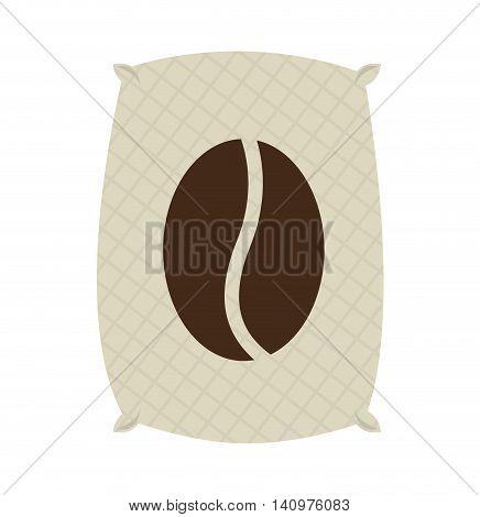 coffee sack isolated icon vector illustration design