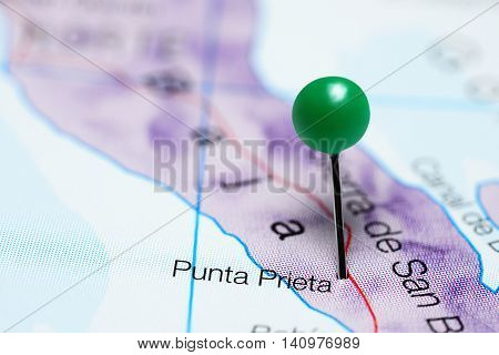 Punta Prieta pinned on a map of Mexico