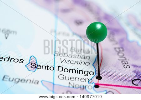 Santo Domingo pinned on a map of Mexico