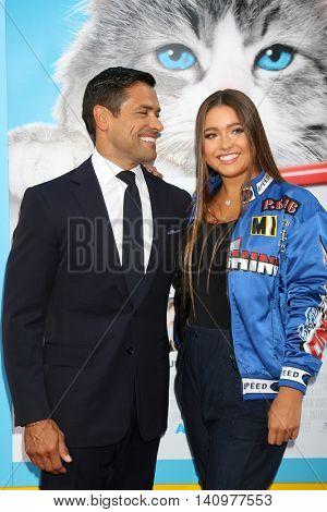 LOS ANGELES - AUG 1:  Mark Consuelos, Lola Consuelos at the