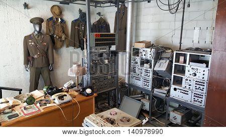 KGB Radio Center in Viru Hotel, Tallinn, Estonia