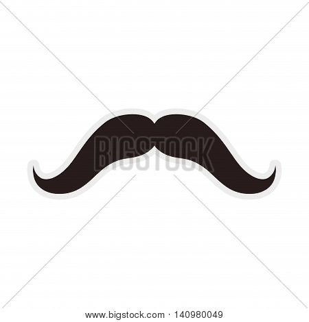 mustache black male man gentleman icon. Isolated and flat illustration. Vector graphic